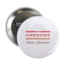 "One Awesome Great Grandad 2.25"" Button"