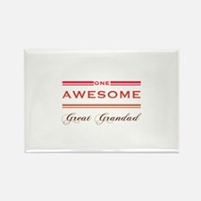 One Awesome Great Grandad Rectangle Magnet (100 pa