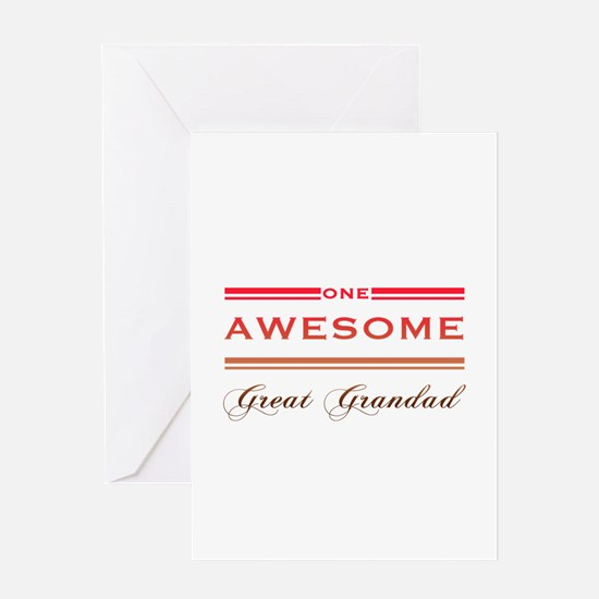 One Awesome Great Grandad Greeting Card