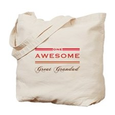 One Awesome Great Grandad Tote Bag