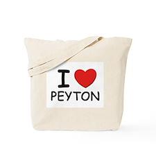I love Peyton Tote Bag