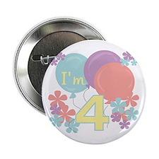 4th Pastel Birthday Button