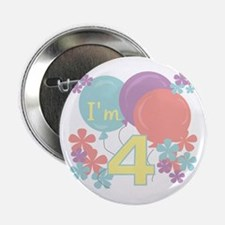4th Pastel Birthday Button