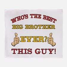 Best Big Brother Ever Throw Blanket