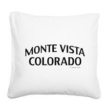 Monte Vista Colorado Square Canvas Pillow