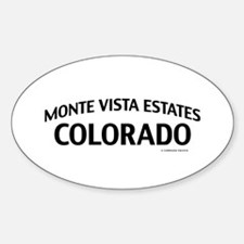 Monte Vista Estates Colorado Decal