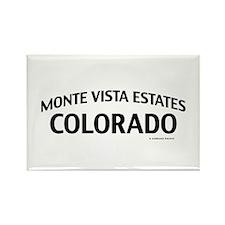 Monte Vista Estates Colorado Rectangle Magnet