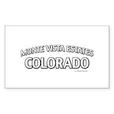 Monte Vista Estates Colorado Decal