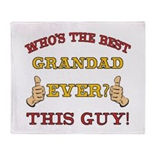 Best Grandad Ever Throw Blanket