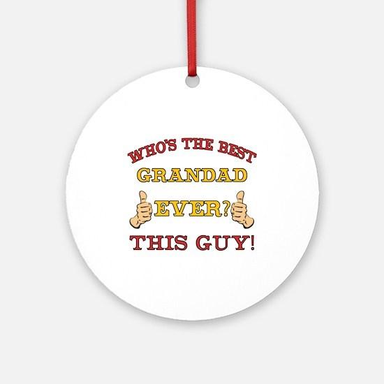 Best Grandad Ever Ornament (Round)