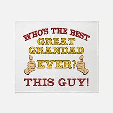 Best Great Grandad Ever Throw Blanket