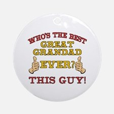 Best Great Grandad Ever Ornament (Round)