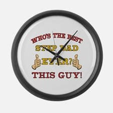 Best Step Dad Ever Large Wall Clock