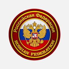 """Russia COA 3.5"""" Button"""