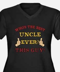 Best Uncle Ever Women's Plus Size V-Neck Dark T-Sh