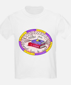 Scrapbooking and Cooking Kids T-Shirt