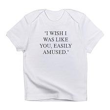 EASILY AMUSED Infant T-Shirt