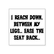 "REACH DOWN BETWEEN MY LEGS Square Sticker 3"" x 3"""