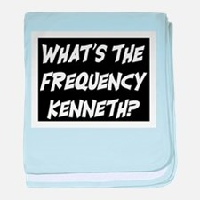 WHAT'S THE FREQUENCY? baby blanket