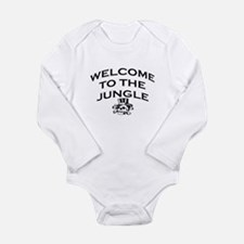 WELCOME TO THE JUNGLE Long Sleeve Infant Bodysuit