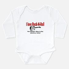 I LOVE ROCK-N-ROLL Long Sleeve Infant Bodysuit