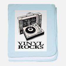 VINYL ROCKS II baby blanket