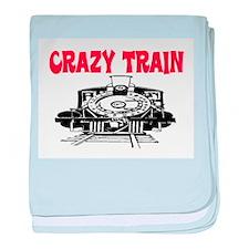 CRAZY TRAIN baby blanket