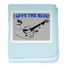 I LOVE THE BLUES baby blanket