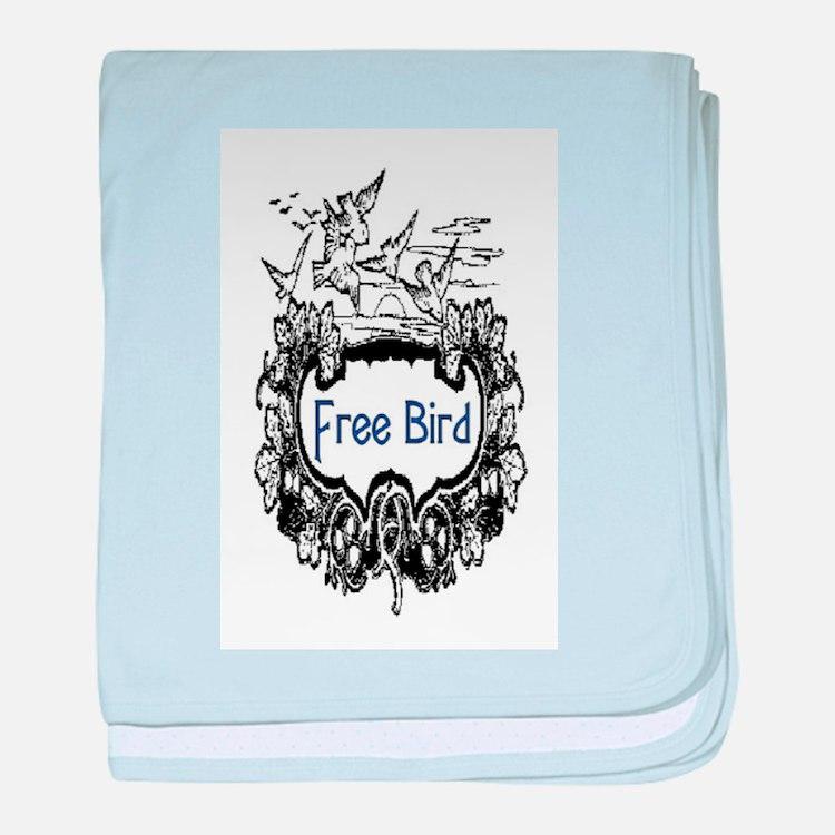 FREE BIRD baby blanket