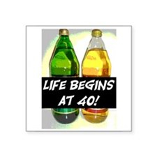"LIFE BEGINS AT 40! #3 Square Sticker 3"" x 3"""