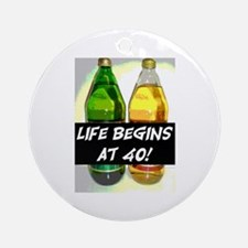 LIFE BEGINS AT 40! #3 Ornament (Round)
