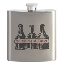 YOU HAD ME AT MERLOT Flask