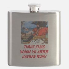 TIME FLIES WHEN YE ARR HAVING RUM Flask