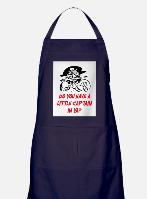 GOT A LITTLE CAPTAIN IN YA? Apron (dark)
