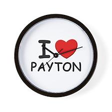 I love Payton Wall Clock