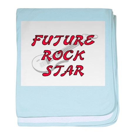 FUTURE ROCK STAR (RED) baby blanket