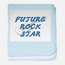 FUTURE ROCK STAR (BLUE) baby blanket