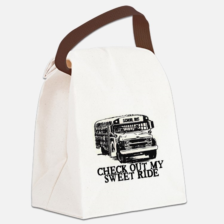 SWEET RIDE II (BUS) Canvas Lunch Bag