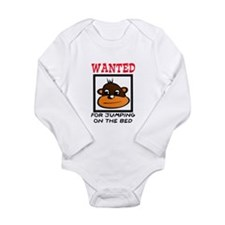 WANTED: JUMPING ON THE BED Long Sleeve Infant Body
