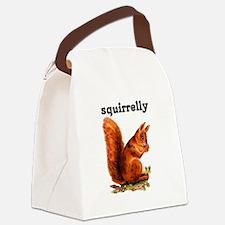 SQUIRRELLY Canvas Lunch Bag