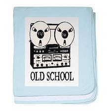 OLD SCHOOL (TAPE DECK) baby blanket