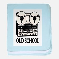 OLD SCHOOL (TAPE DECK) baby blanket
