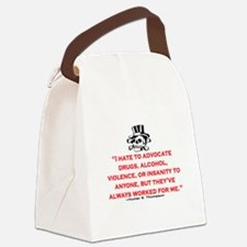 GONZO QUOTE (ORIGINAL) Canvas Lunch Bag