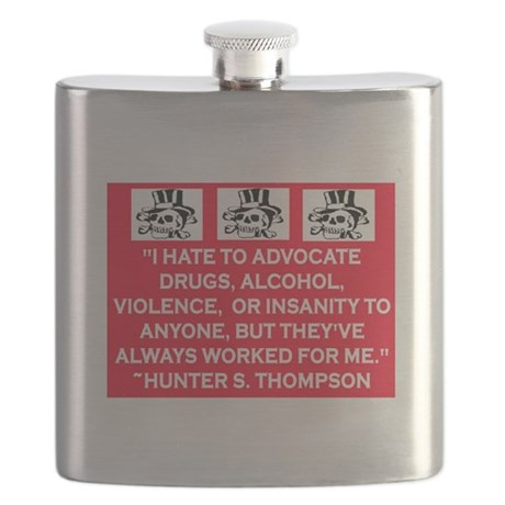 HUNTER S. THOMPSON QUOTE Flask