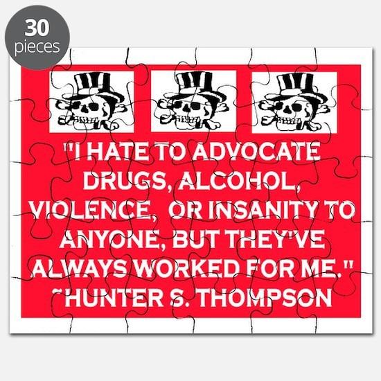 HUNTER S. THOMPSON QUOTE Puzzle