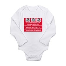 HUNTER S. THOMPSON QUOTE Long Sleeve Infant Bodysu