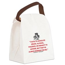 HUNTER S. THOMPSON QUOTE (ORIG) Canvas Lunch Bag