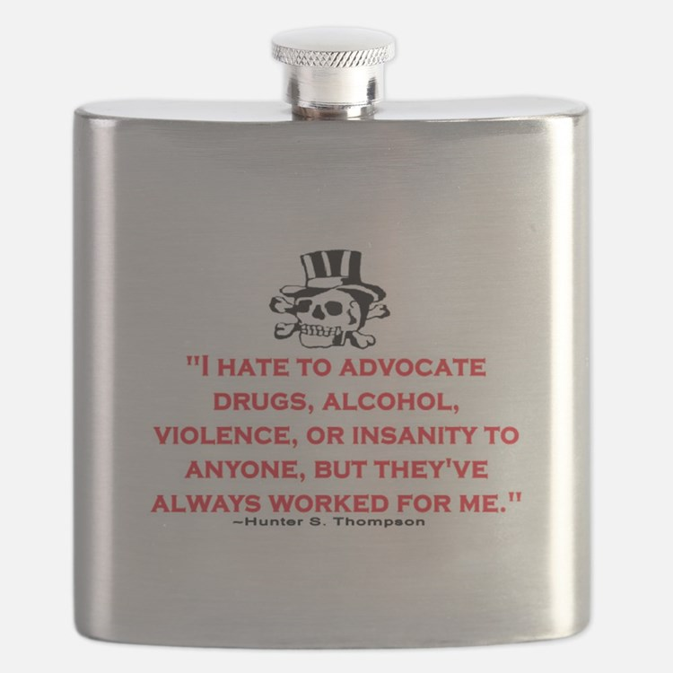 HUNTER S. THOMPSON QUOTE (ORIG) Flask