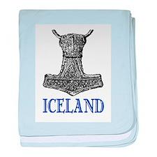 ICELAND (THOR'S HAMMER) baby blanket