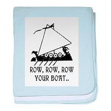 ROW, ROW, ROW YOUR BOAT baby blanket